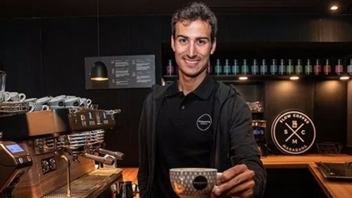 Mario Mola, World Triathlon Champion, at Marabans Coffee 3