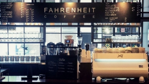 Have a nice cup of coffee at Fahrenheit