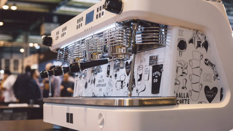 Our espresso coffee machines on the stage at the SCA Spainish Championships