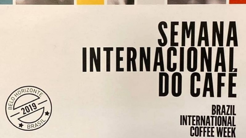We're at the International Coffee Week in Brazil